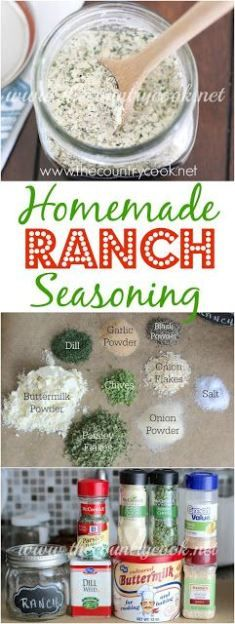 Homemade Ranch Seasoning recipe from The Country Cook. Use it to make dressing, dip or in any recipe that calls for a packet of ranch seasoning. So, so good!