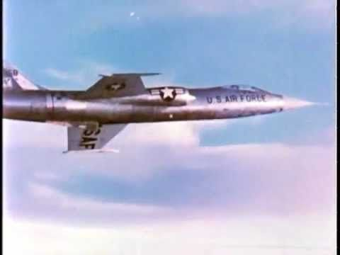 US Air Force F-104 Starfighter Jet Tribute with a Poem by John Magee -