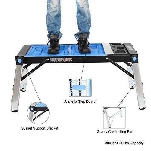Folding Work Table Scaffold Platform Aluminum Legs Portable Creeper Carrier New #FoldingWorkTable