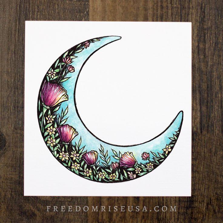 Wildflower Moon Art Print