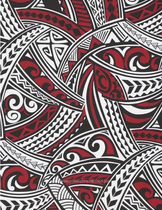 Polynesian Tribal Lavalava Fabric Tattoo Tapa Tribal Tapa Patterns In White Red And Black Tapa Design Is Versatile Polynesische Kunst Tatowierungen Ornamente
