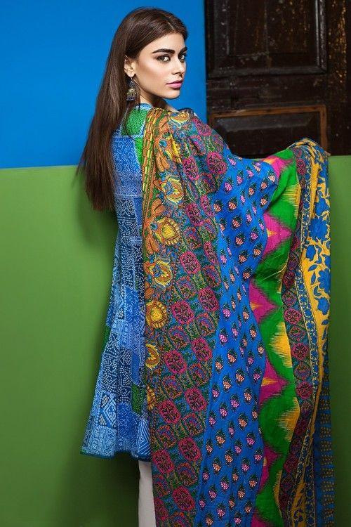 Khaadi 2 Piece Stitched Printed Lawn Suit - L17107-B - Blue - libasco.com    #khaadi #khaadionline #khadiclothes #khaadi2017 #kaadisummer