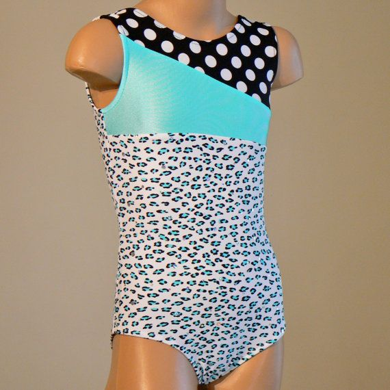 Gorgeous Animal Print Gymnastics Dance Leotard With Holographic Dots Size 2T through Girls 7 on Etsy, $29.00
