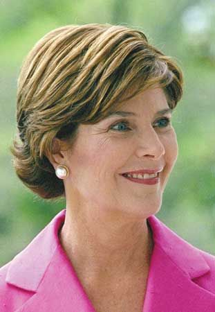 Laura Bush.... A First Lady with class who loves America!! I miss her whenever I see the b... that's in the Whitehouse now!