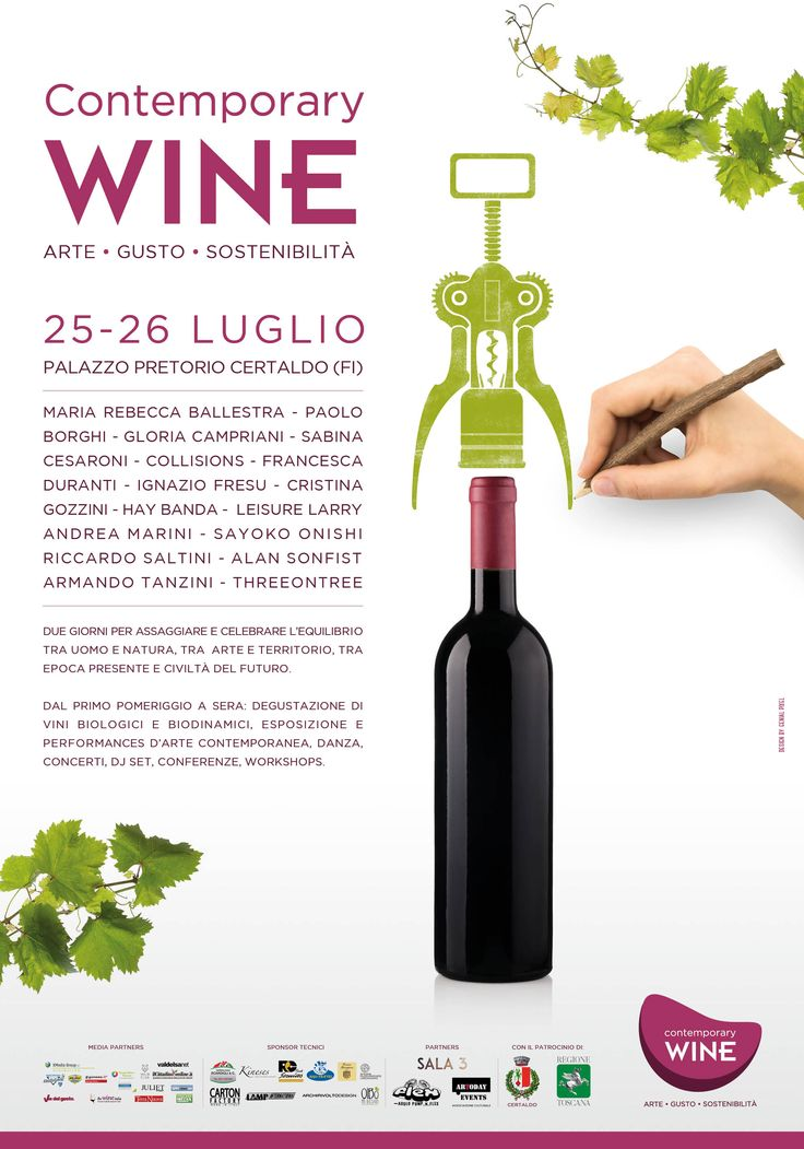 Contemporary Wine Festival  #Poster #design for #wine #festival in #tuscany