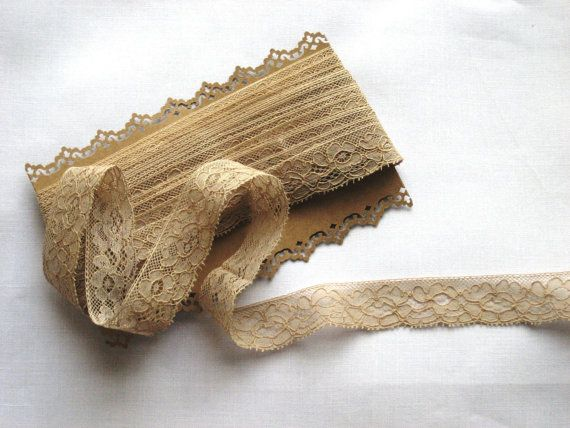 French Vintage Lace Edging  23mm wide  5 by Chezpetitpica on Etsy, €22.50