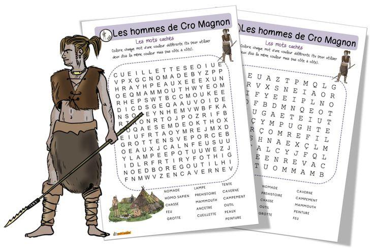 Mots mêlés : Les hommes de Cro Magnon - Bout de gomme