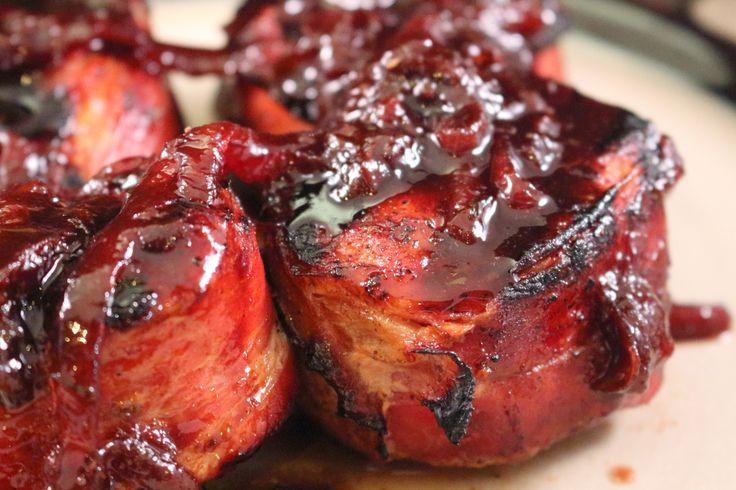 Carrabba's Prosciutto Wrapped Pork Tenderloin with Port Wine Fig Sauce