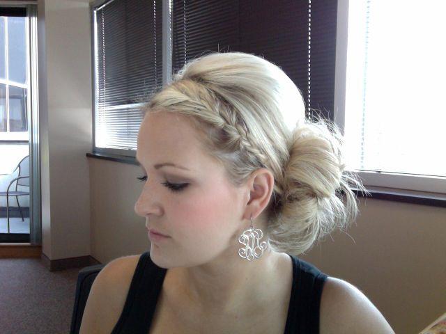 Love this look- wish I could make me hair look like this!: Bridesmaids Beauty, Wedding Updos, Hair 3, Bridesmaid Hair, Braid Buns, Hair Styles, Hair Cuts, Cute Hair