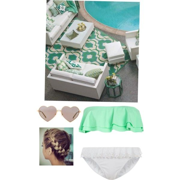 Good Sitting By The Pool Mintgreen Swimwear Love Braid Fashion Love With  Mintgrn Soffa