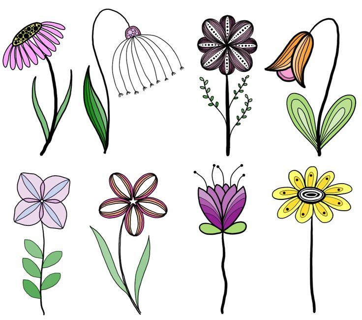 Flower Leaf Line Drawing : Best doodles sketches flowers leaves trees