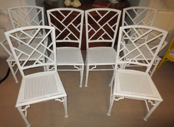 Vintage Meadowcraft Faux Bamboo Cast Aluminum Patio Chairs