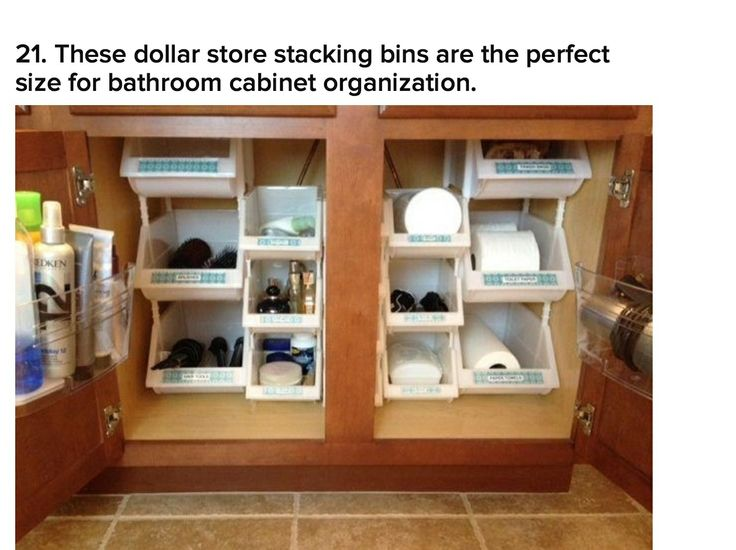 These Dollar Store Stacking Bins Are The Perfect Size For Bathroom Cabinet  Organization. These Dollar Store Stacking Bins Are The Perfect Size For  Bathroom ...