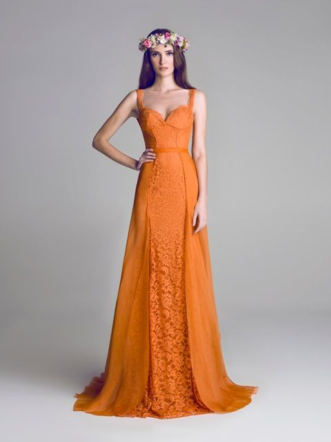 Hamda Al Fahim Spring 2013; We are Totally Crushing on These Orange Wedding Ideas - Hamda Al Fahim Spring 2013
