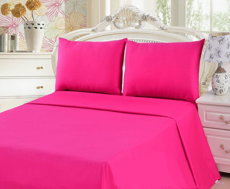 Tache 2-3 Piece Pink Superstar Bed sheet Set(Flat Sheet)
