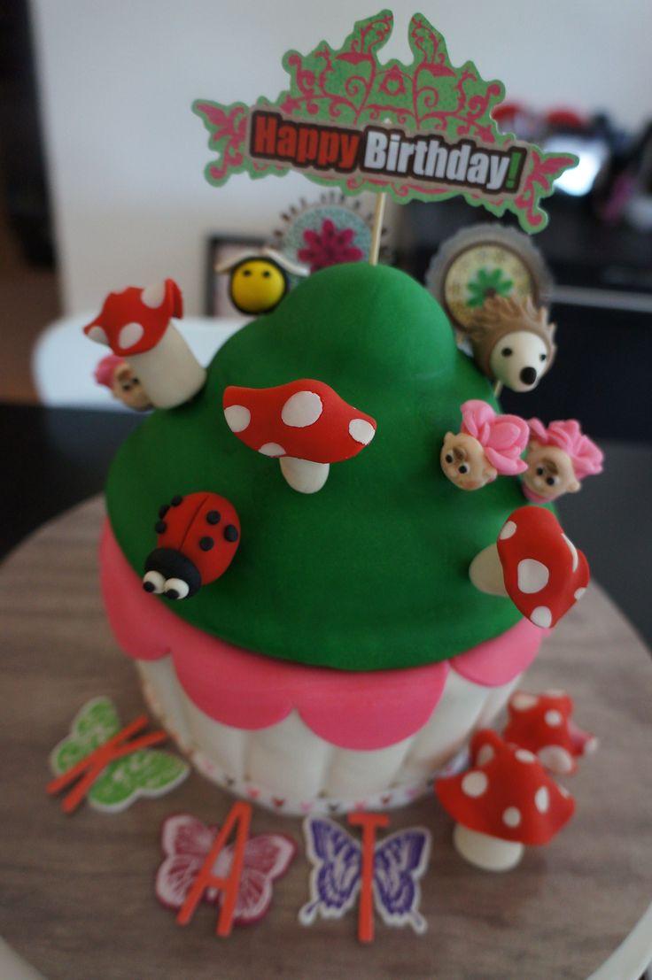 Enchanted Garden Giant Cupcake