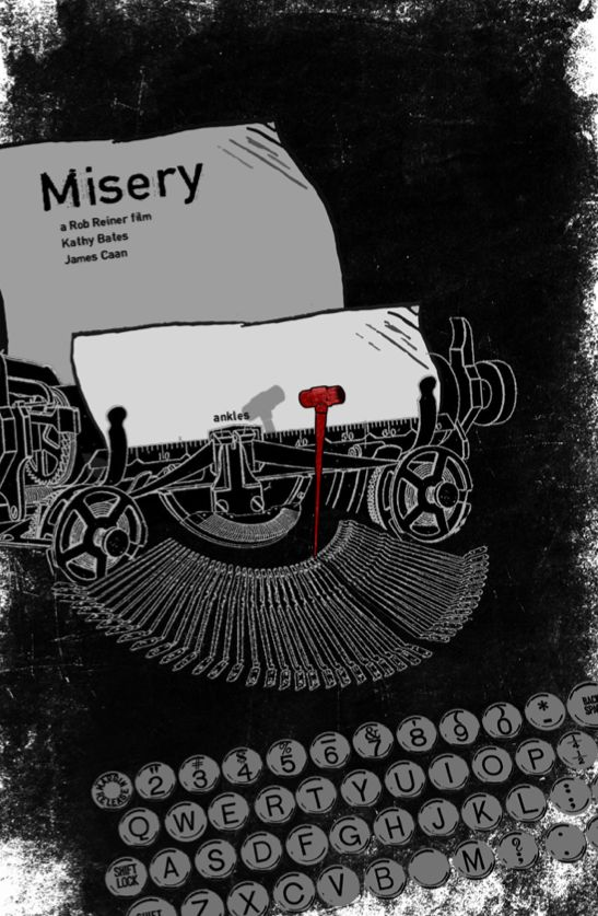 Misery (1990) ~ Minimal Movie Poster by Edgar Ascensao #amusementphile