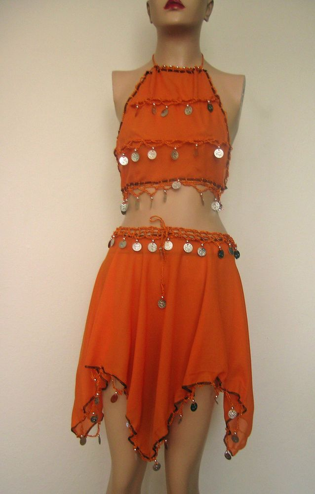 Belly dance costume and SKIRT TOP   Bauchtanz Kinder Kostüm 5 - 8 jahre Fasching Party Geburtstag Belly dance costum