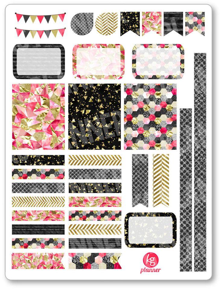 Pink Glitz Decorating Kit / Weekly Spread