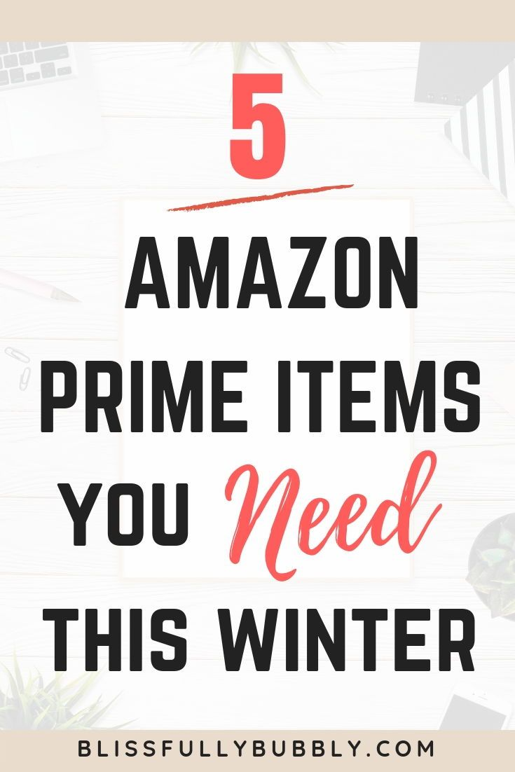 5 Amazon Prime Items You Need This Winter Positive Mental Health