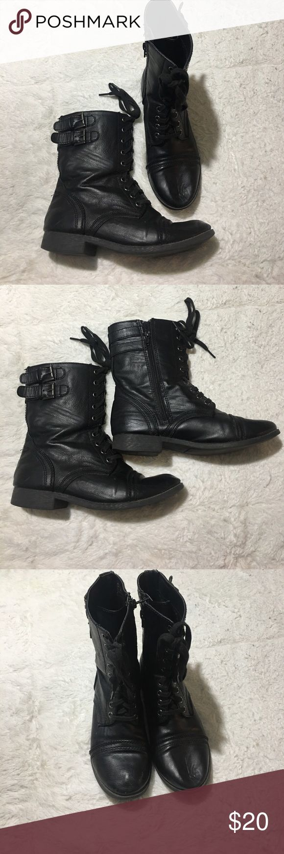Combat boots 6.5 Cute combat boots! Brand is jaycer Jaycer Shoes Lace Up Boots