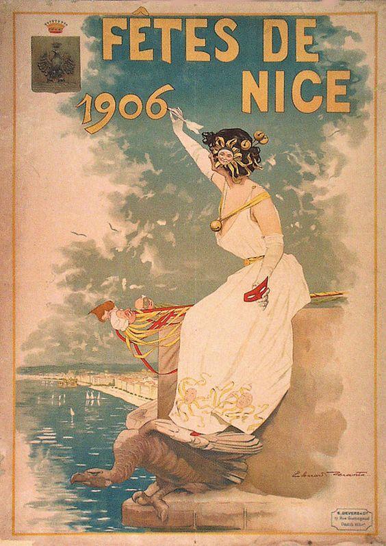 Vintage Poster - Fêtes de Nice - 1906.