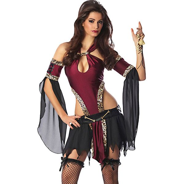 Ruby Off Shoulder Cut Out Sexy Womens Pirate Halloween Costume ($29) ❤ liked on Polyvore featuring costumes, ruby, womens pirate costume, ladies costumes, sexy halloween costumes, womens costumes and sexy women costumes