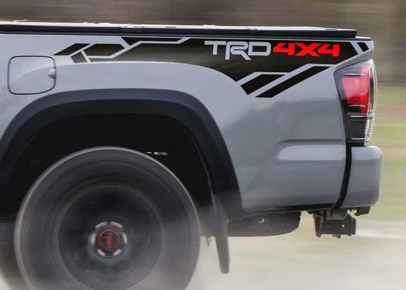 TRD OFF ROAD DECALS TOYOTA TACOMA TUNDRA TRUCK STICKER SET 1 PAIR BLACK GLOSS