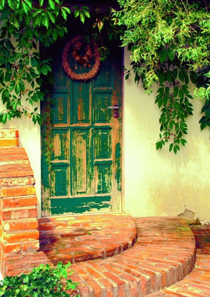 """Title: """"Old can be pretty"""". Old door"""