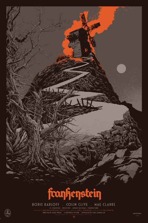 Ken Taylor Mondo print Frankenstein 24″ x 36″ Screenprint, Edition of 375