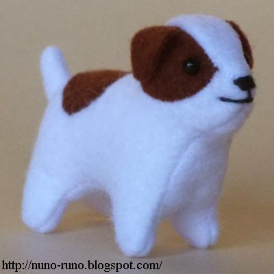 DIY Felt Jack Russel Terrier Dog - FREE Sewing Pattern and Tutorial
