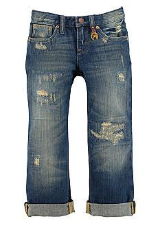 Ralph Lauren Childrenswear Repaired Boyfriend Jeans Toddler Girls