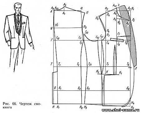 §1. Конструирование фрака - Глава VII - Конструирование мужской верхней одежды - Всё о шитье