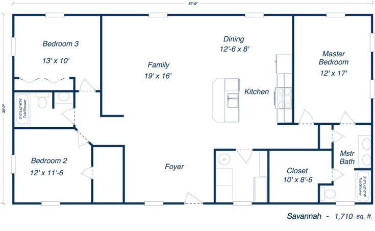 Savannah Steel Home Kit Plan Open Layout Floorplans: metal house floor plans
