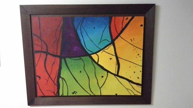 Oleo abstracto, 1m x 80cm