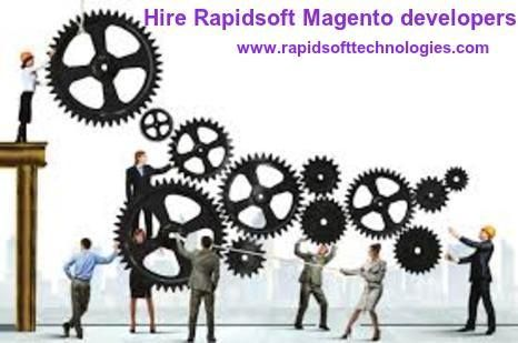Rapidsoft Technologies  provide service to hire magento developers for e-Commerce based site development to their clients. Rapisoft has well-know Magento web developers that know the most functional ways to utilize the power of Magento  environment and its capacity.