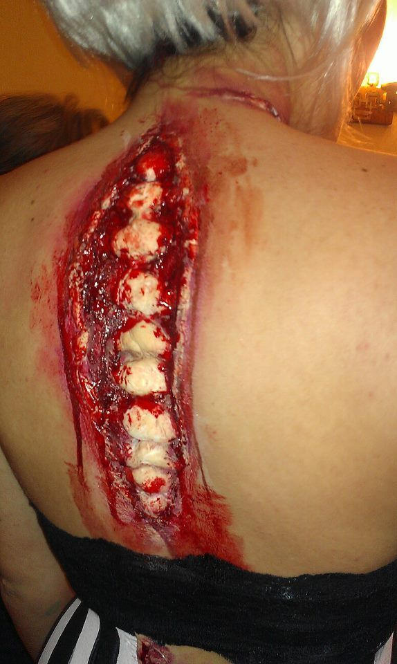 Wow Thats Amazing Scary Gory Open Back With Spine Showing