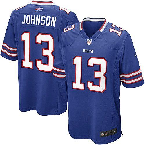 Men's Nike Buffalo Bills Stevie Johnson Game Team Color Jersey - NFLShop.com