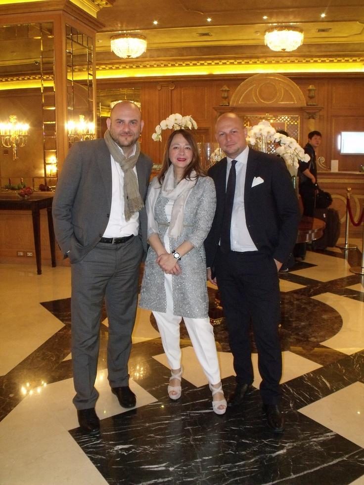 Fabio Rezzoagli (LinkedIn), Laura Colombo (ETAss), Mario Moioli ( ForARCom): pausa caffè
