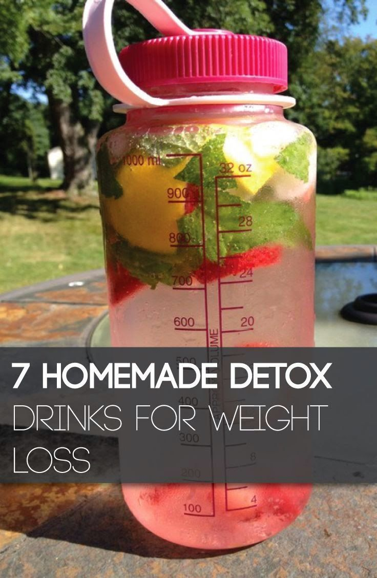 7 Homemade Detox Drinks For Weight Loss Food Fashion