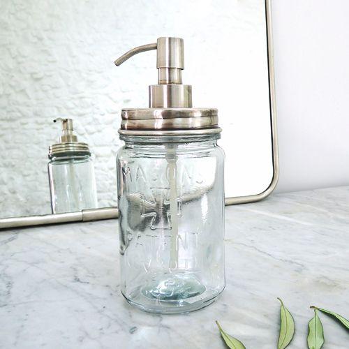 Distributeur de savon liquide en verre Maison Tilleul