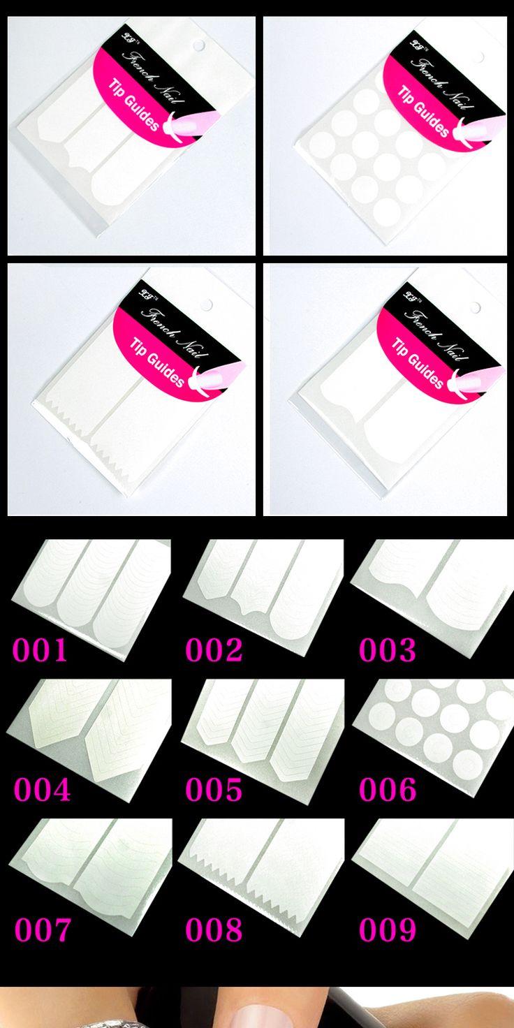 DIY наклейки для ногтей линия улыбки 3d французской помощи ногтей наклейки, блокирующие ленту - Taobao