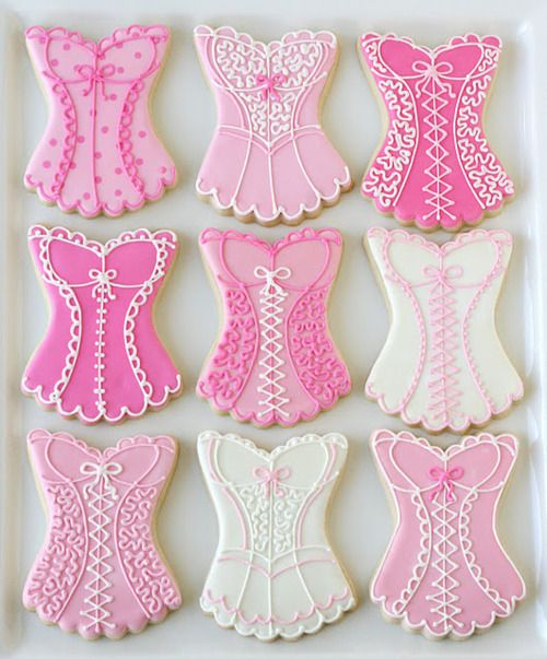 Cute Corset Cookies #cookies, #corsets, #food, https://facebook.com/apps/application.php?id=106186096099420