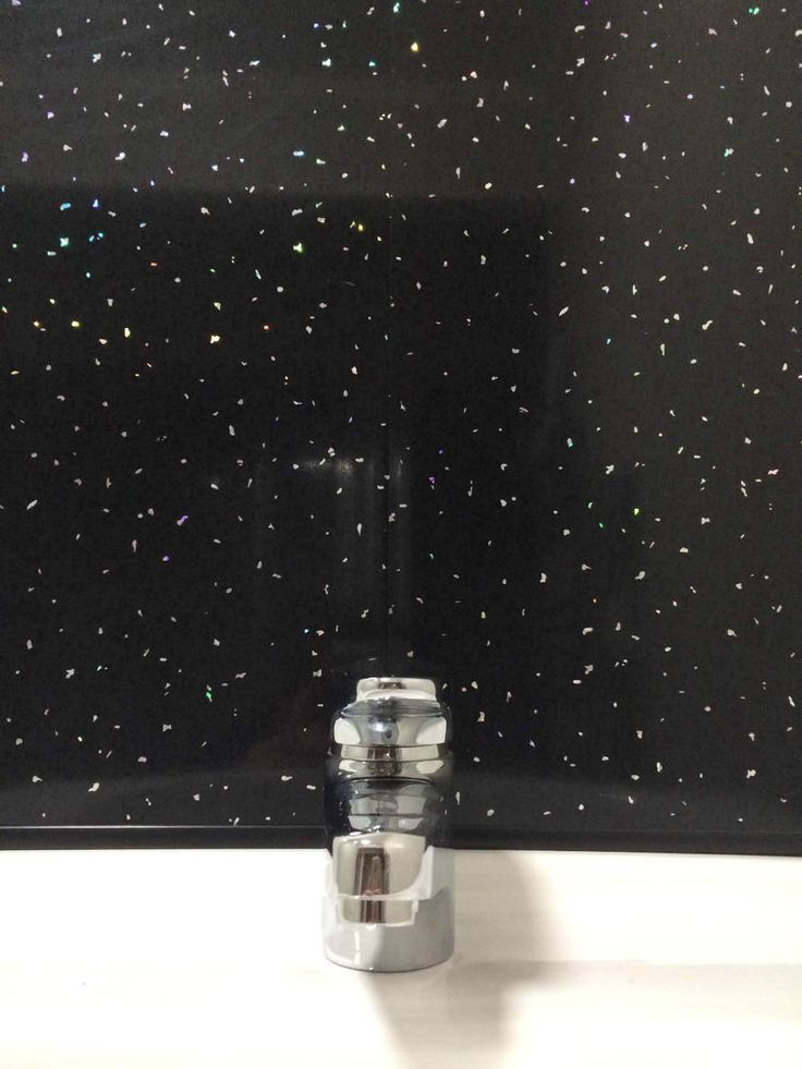Black Sparkle 5mm PVC Cladding Bathroom Shower Ceiling Panels Wet Wall