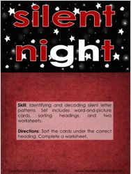 silent night silent letters activity