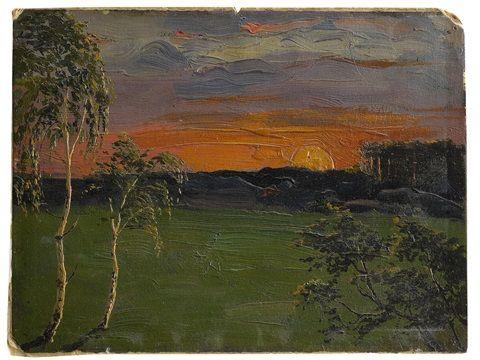 Sunset , 1896 - Arkhip Ivanovich Kuindzhi