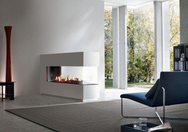 Venezia 130 Peninsular 3 Sided Balanced Flue Gas Fire Gas Fireplace Contemporary Fireplace Fireplace