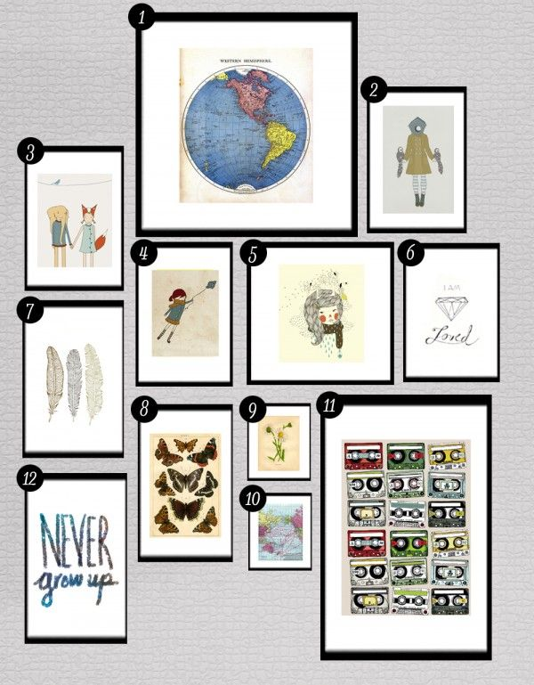 Free Printables for Gallery Walls •Little Gold Pixel