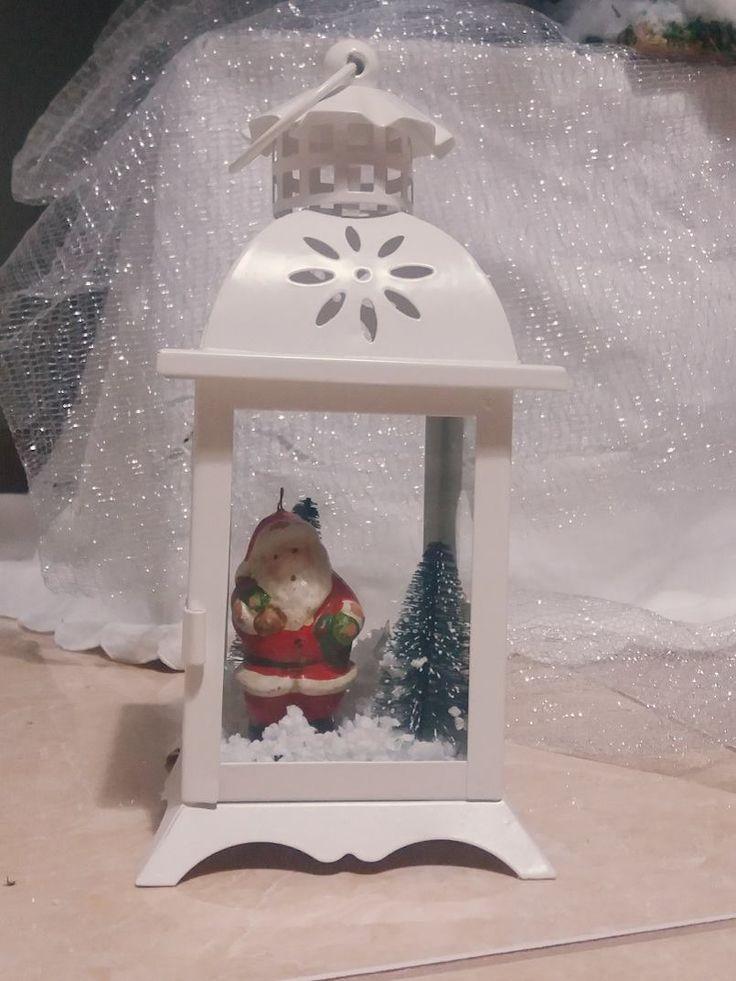 DIY - Small Christmas Lantern Decoration.
