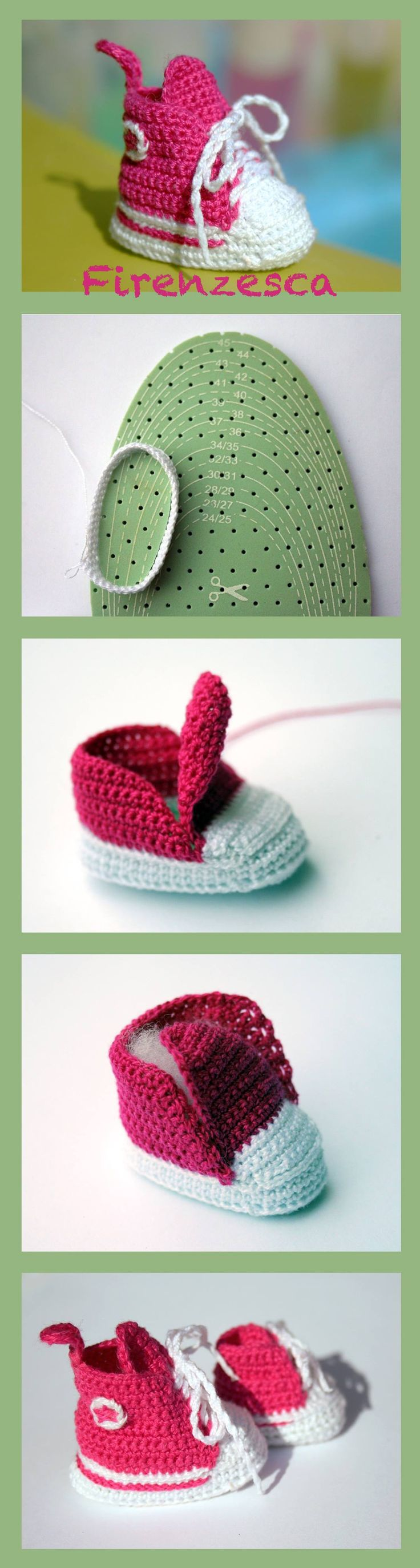 "sneakers converse allstars crochet amigurumi shoes keychain scarpine portachiavi uncinetto pink ""Francesca Birini"""